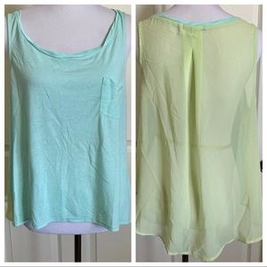 American Eagle Outfitters Sheer Back Tank Top L